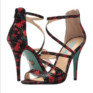 "Betsey Johnson ""The Izzy"" Poppy Print Stilettos"